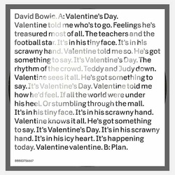david bowie valentine's day